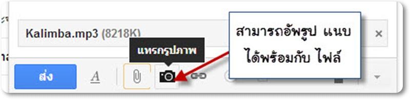 วิธีการแนบไฟล์รูปภาพ อีเมลจดหมายด้วย Gmail