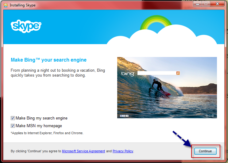 how to register and download skype13