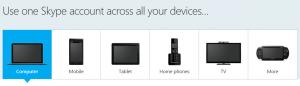 อุปกรณ์ที่รองรับการใช้งานโปรแกรม skype