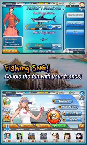 เกมตกปลาแบบฉบับ LINE